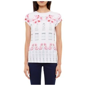 Ted Baker Jessah Window Box Fitted Floral shirt 0